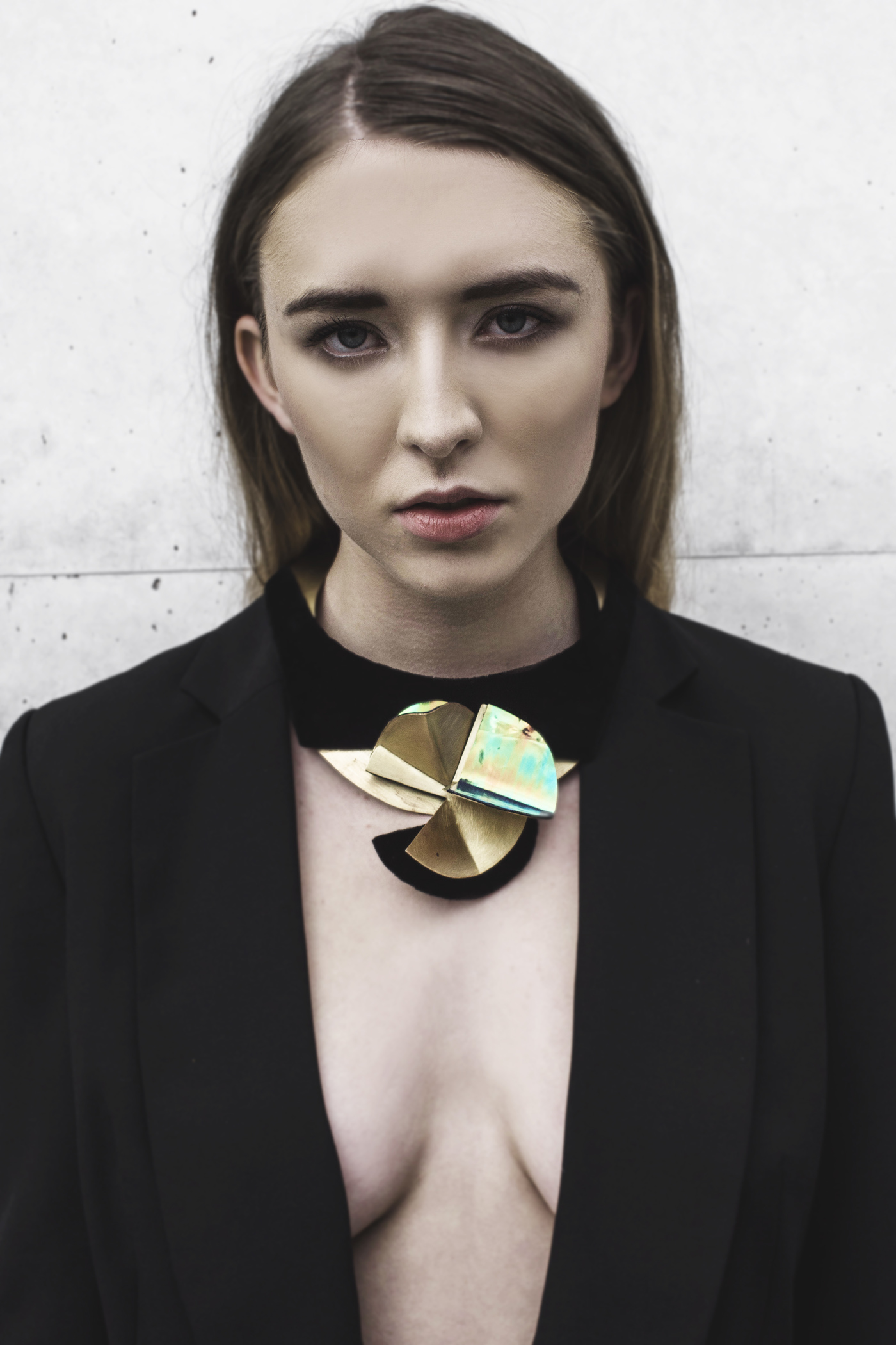Hand-made, holographic necklace